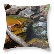 Emerald Pools Close Up Throw Pillow