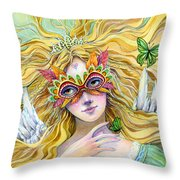 Emerald Princess Throw Pillow by Sara Burrier
