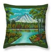 Emerald Valley Throw Pillow