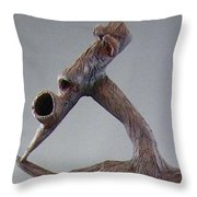 Emerge And Run Throw Pillow