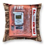 Emergency Fire Box Throw Pillow