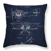 Emergency Flotation Gear Patent Drawing From 1931 Throw Pillow by Aged Pixel