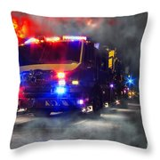 Emergency Throw Pillow by Olivier Le Queinec