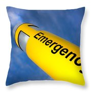 Emergency Throw Pillow
