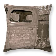 Emergency Truck Throw Pillow