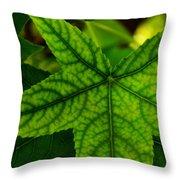Emerging Greens Throw Pillow
