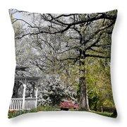 Emerging Of Spring Throw Pillow