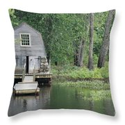 Emerson Boathouse Concord Massachusetts Throw Pillow by Amy Porter