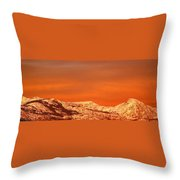 Emigrant Gap Throw Pillow by Bill Gallagher