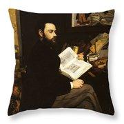Emile Zola Throw Pillow