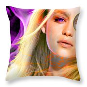 Emilia Clarke Throw Pillow
