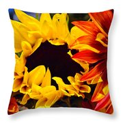 Emily And Friends Throw Pillow