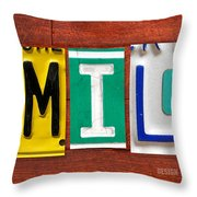 Emily License Plate Name Sign Fun Kid Room Decor Throw Pillow