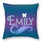 Emily Name Art Throw Pillow