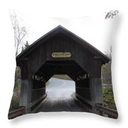 Emily's Bridge Stowe Vermont Throw Pillow