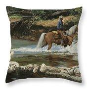 Palomino Crossing Big Creek Throw Pillow
