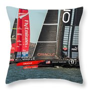 Emirates And Oracle Throw Pillow