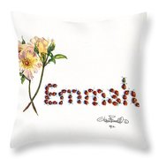Emmah In Ladybugs Throw Pillow