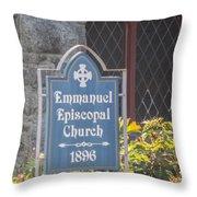 Emmanuel Episcopal Church  Throw Pillow