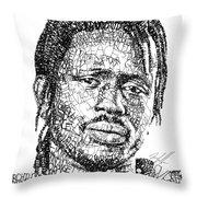 Emmanuel Jal Throw Pillow