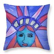 Emma's Lady Liberty Throw Pillow
