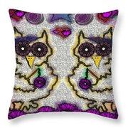 Emo Owls Throw Pillow