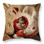 Emotional Upheaval II Squared Throw Pillow