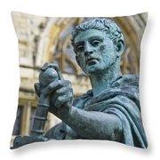 Emperor Constantine Throw Pillow