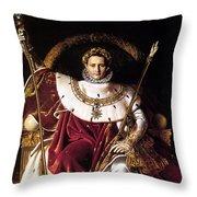Emperor Napoleon I On His Imperial Throne Throw Pillow