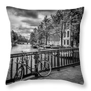 Emperor's Canal Amsterdam Throw Pillow