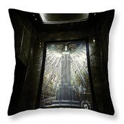 Empire Art Deco Throw Pillow