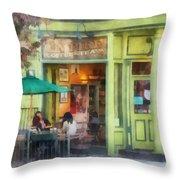Hoboken Nj - Empire Coffee And Tea Throw Pillow