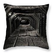 Empire Mine Shaft Throw Pillow