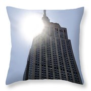 Empire State At Hign Noon Throw Pillow