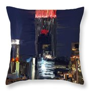 Empire State Buidling On The Water Throw Pillow