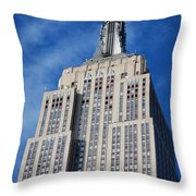 Empire State Building - Nyc Throw Pillow