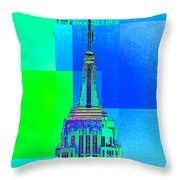 Empire State Building 5 Throw Pillow