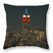 Empire State Building 911 Tribute Throw Pillow