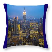 Empire State Building And Midtown Manhattan Throw Pillow