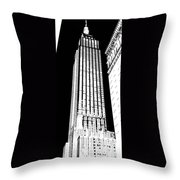 Empire State Building In Constrasting White Throw Pillow