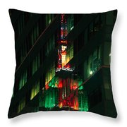 Empire State Building Reflection Throw Pillow