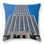Empire State Building Rising I Throw Pillow