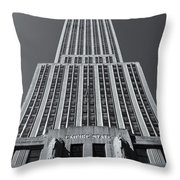 Empire State Building Rising II Throw Pillow