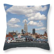 Empire State From The Water Throw Pillow