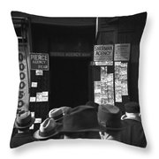 Employment Agency, 1937 Throw Pillow