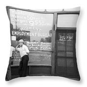Employment Bureau, 1937 Throw Pillow