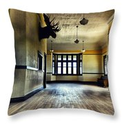 Empress Train Station Throw Pillow