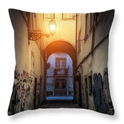 Empty Alley Throw Pillow
