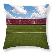 Empty American Football Stadium Throw Pillow
