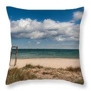 Empty Beach Throw Pillow